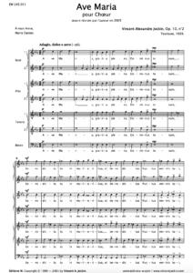 Ave Maria, Op. 10, No. 2