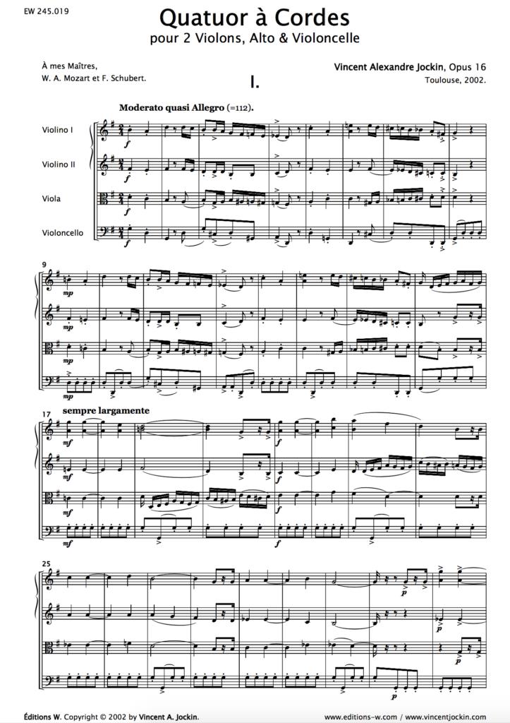 String Quartet, Opus 16