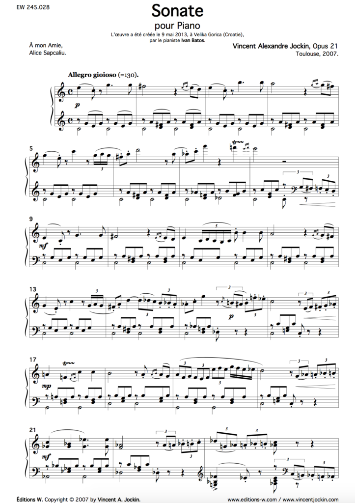 Sonata, Opus 21