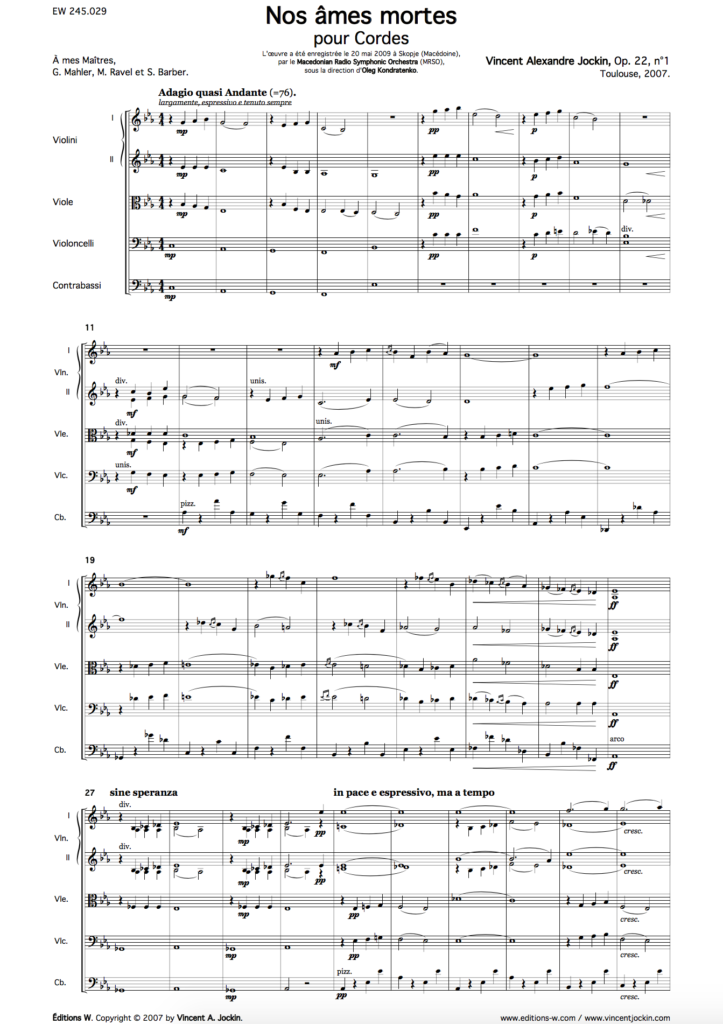 Our Lost Spirits, Op. 22, No. 1