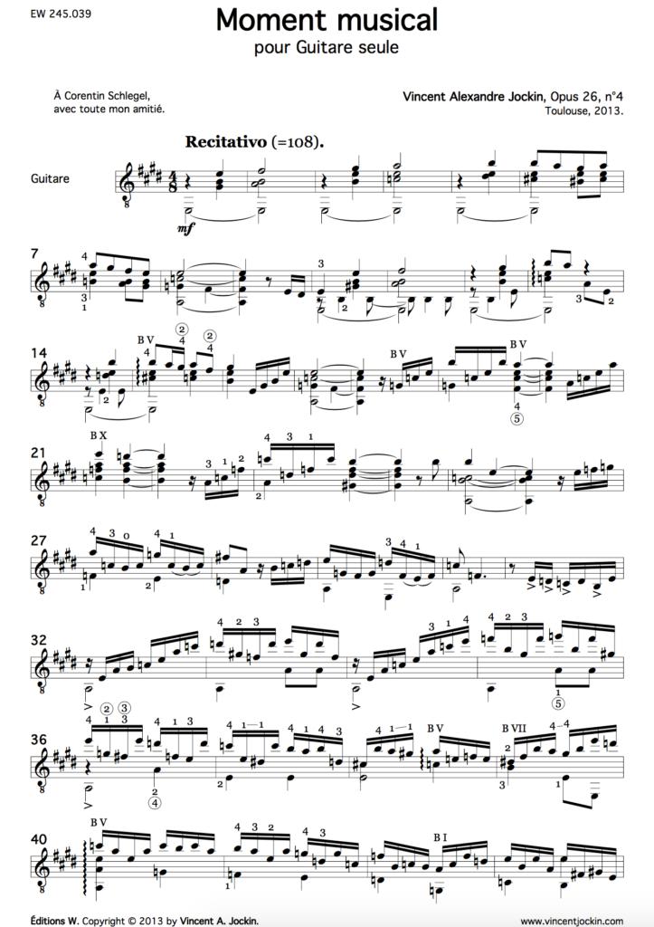 Moment Musical, Op. 26, No. 4