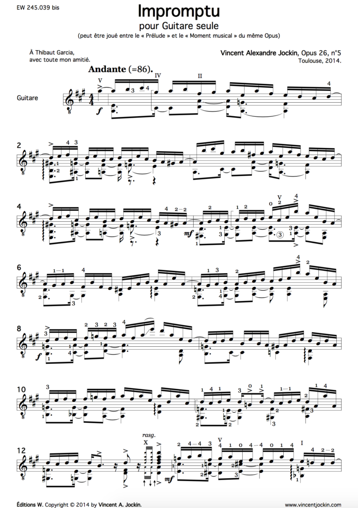 Impromptu, Op. 26, No. 5