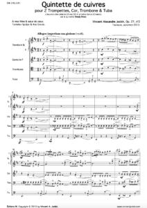 Brass Quintet, Op. 27, No. 2