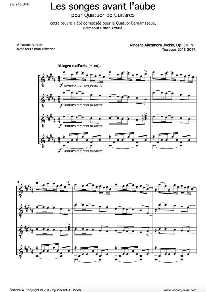 Dreams Before Dawn, Op. 30, No. 1
