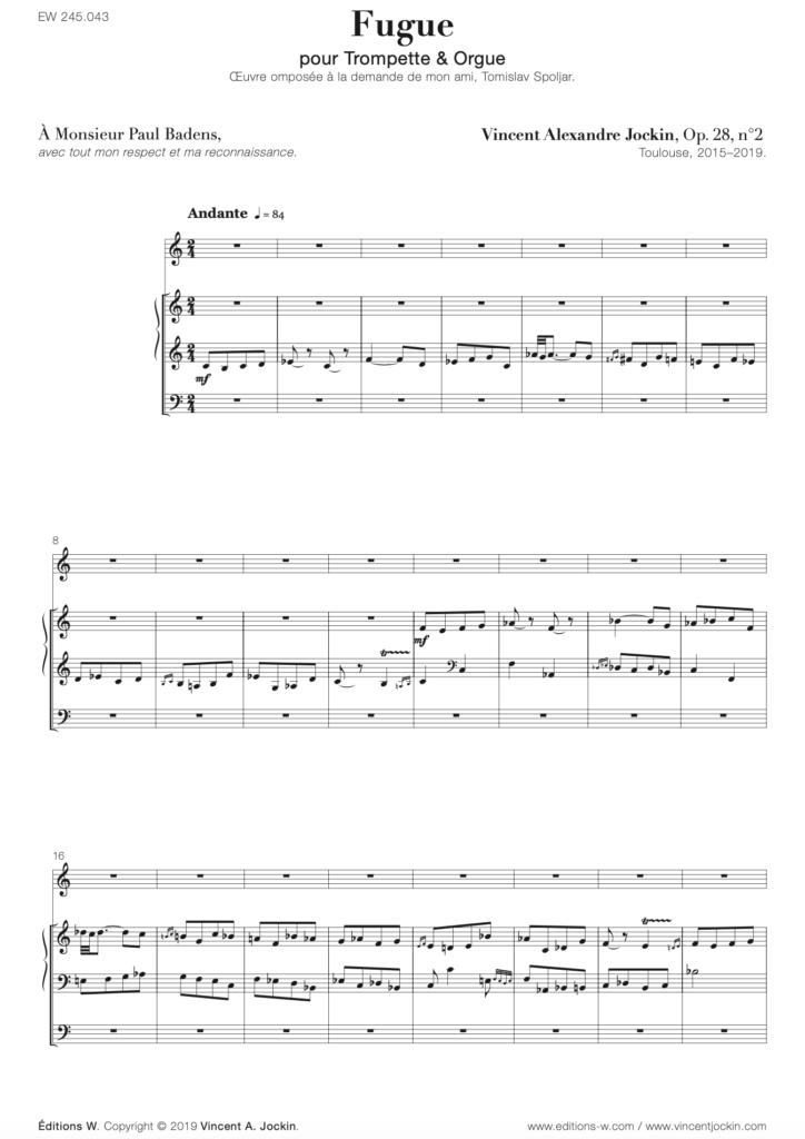 Fugue, Op. 28, No. 2